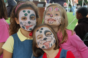Face paint girls
